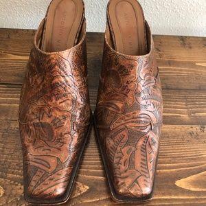 Antonio Melani Copper Tool Mules